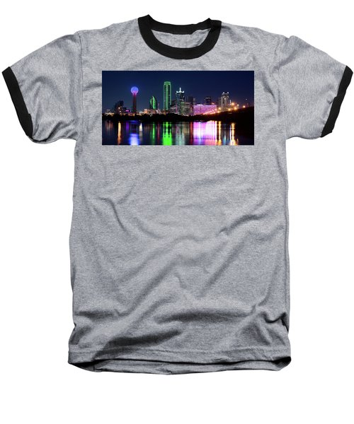 Dallas Colorful Night 52716 Baseball T-Shirt
