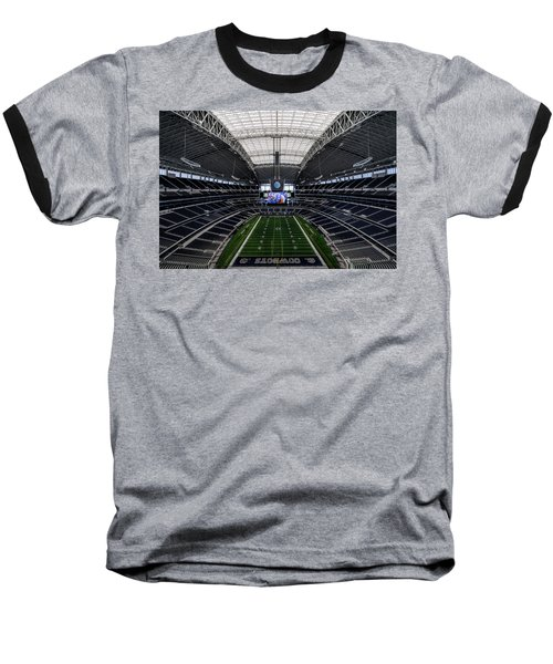 Dallas Cowboys Stadium End Zone Baseball T-Shirt by Jonathan Davison