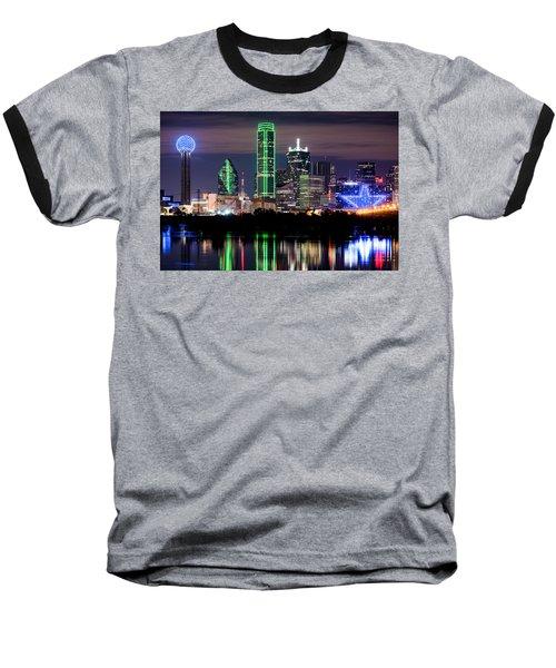 Dallas Cowboys Star Skyline Baseball T-Shirt