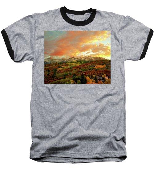 Dallas Divide Sunset Baseball T-Shirt