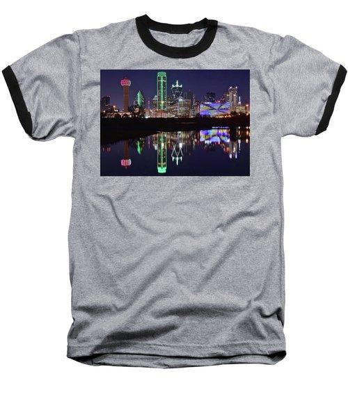 Dallas Reflecting At Night Baseball T-Shirt