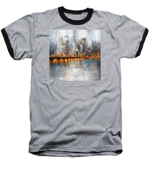 Dallas Skyline 217 1 Baseball T-Shirt by Mawra Tahreem