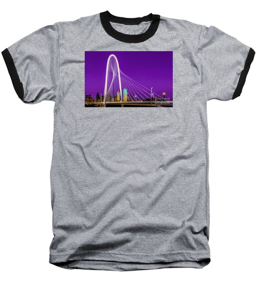 Dallas Skyline Purple Baseball T-Shirt