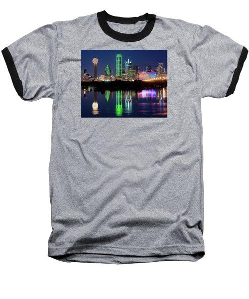 Dallas Skyline Reflection 91317 Baseball T-Shirt