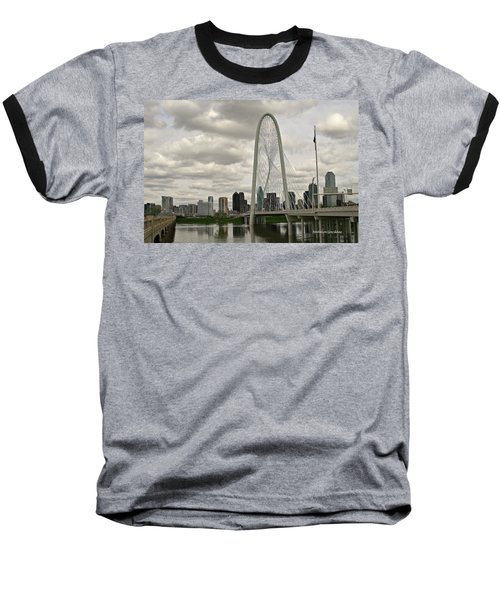 Dallas Suspension Bridge Baseball T-Shirt