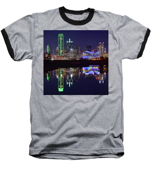 Baseball T-Shirt featuring the photograph Dallas Texas Squared by Frozen in Time Fine Art Photography