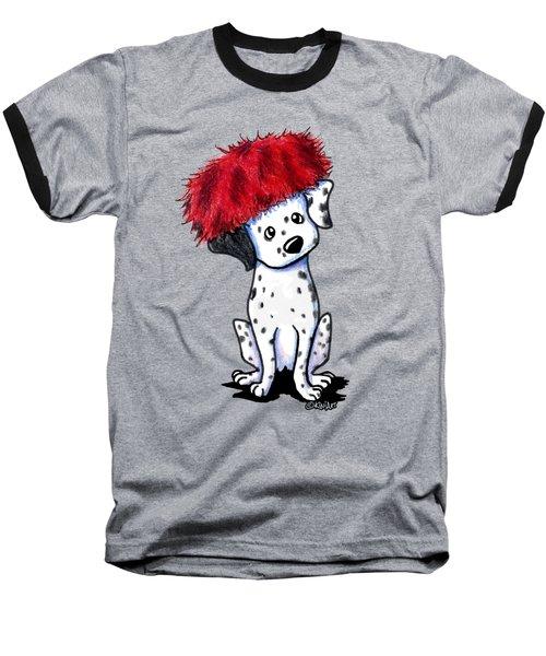 Dalmatian In Red Baseball T-Shirt