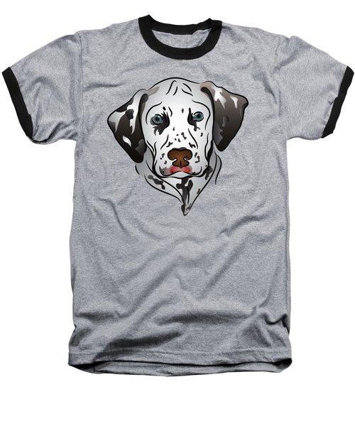 Dalmatian Portrait Baseball T-Shirt