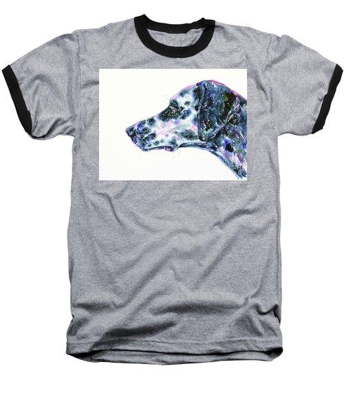 Baseball T-Shirt featuring the painting Dalmatian by Zaira Dzhaubaeva