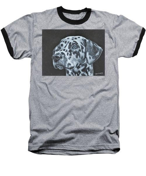 Dalmation Portrait Baseball T-Shirt