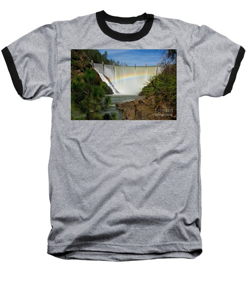 Baseball T-Shirt featuring the photograph Dam Rainbow by Patrick Witz