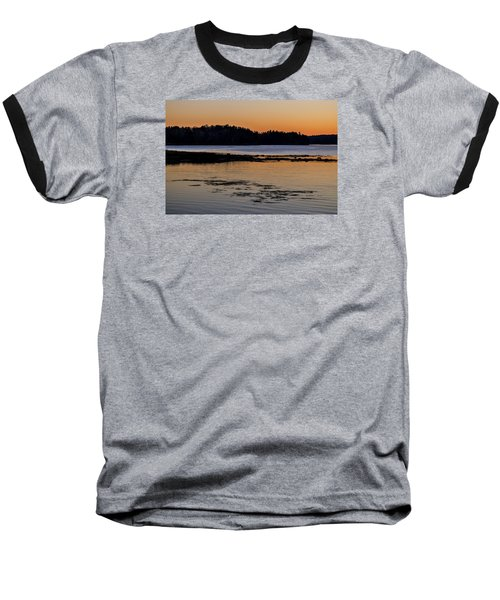Damariscotta Twilight Baseball T-Shirt by Tom Singleton