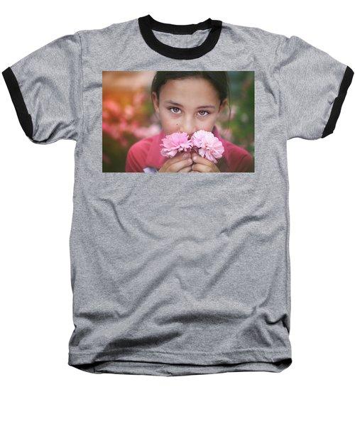 Damask Roses Baseball T-Shirt