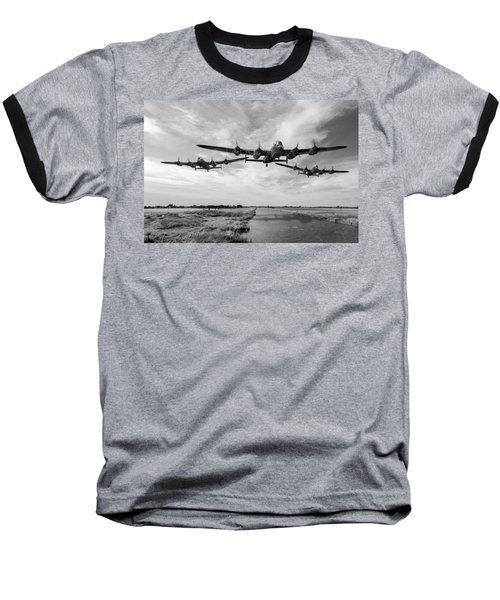 Dambusters Practising Low Level Flying Bw Version Baseball T-Shirt