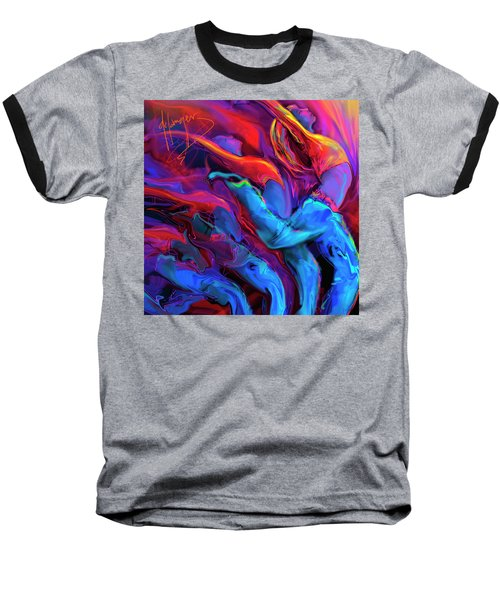 Baseball T-Shirt featuring the painting Dance, Dance, Dance by DC Langer