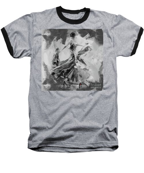 Baseball T-Shirt featuring the painting Dance Flamenco 01 by Gull G