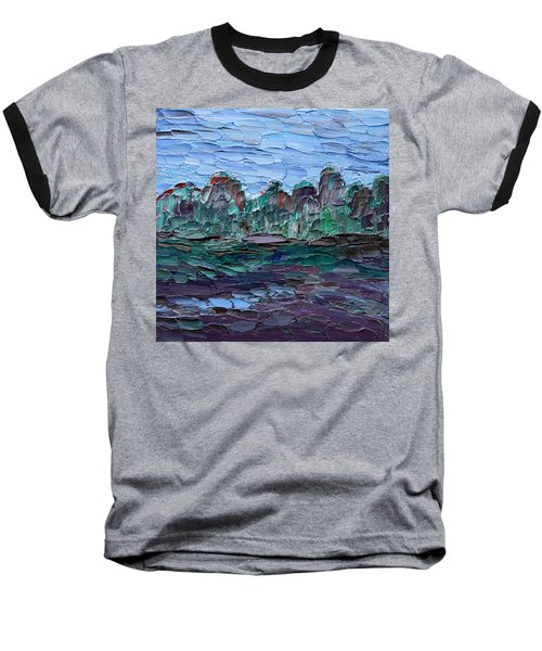 Baseball T-Shirt featuring the painting Dance In The Rain by Vadim Levin