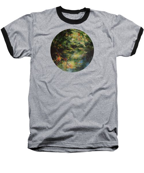 Dance Of Color And Light Baseball T-Shirt by Mary Wolf