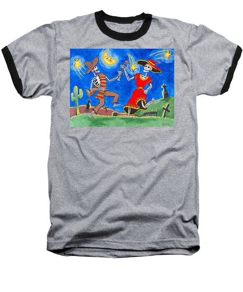 Dance Of The Dead Baseball T-Shirt by Dale Loos Jr