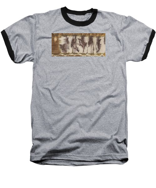 Dance Of The Eucalyptus Leaves Baseball T-Shirt by Carolyn Doe