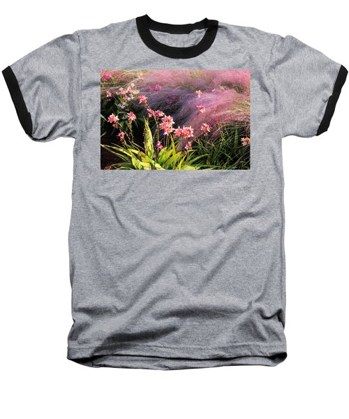 Baseball T-Shirt featuring the photograph Dance Of The Orchids by Rosalie Scanlon