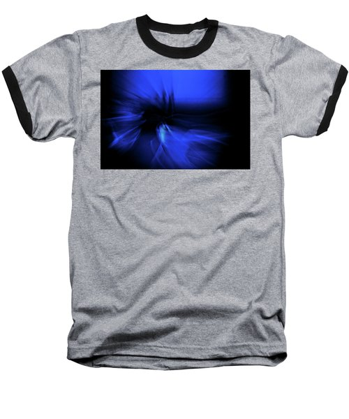Dance Swirl In Blue Baseball T-Shirt