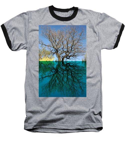 Dancers Tree Reflection  Baseball T-Shirt