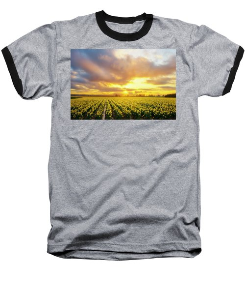 Dances With The Daffodils Baseball T-Shirt by Ryan Manuel