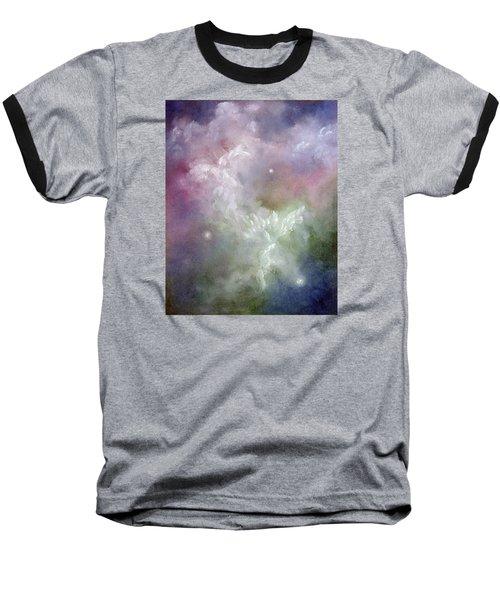 Dancing Angels Baseball T-Shirt by Marina Petro