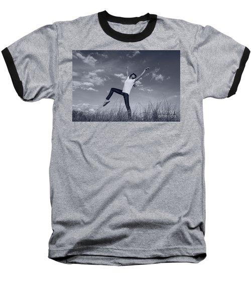 Dancing At The Beach Baseball T-Shirt by Amyn Nasser