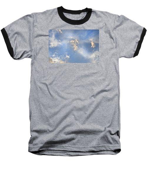 Baseball T-Shirt featuring the photograph Dancing Clouds by Wanda Krack