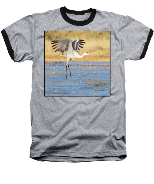 Dancing Crane Baseball T-Shirt