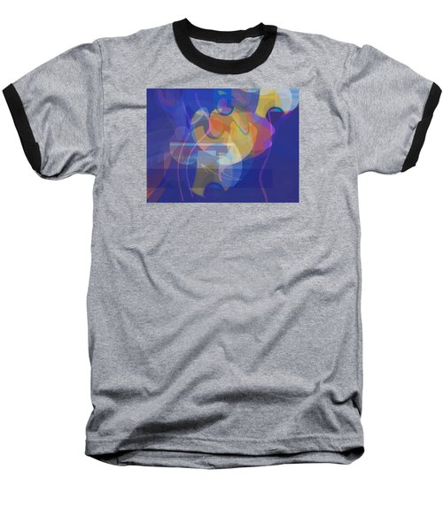 Baseball T-Shirt featuring the painting Dancing Days by David Klaboe