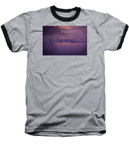 Dancing Geese Baseball T-Shirt