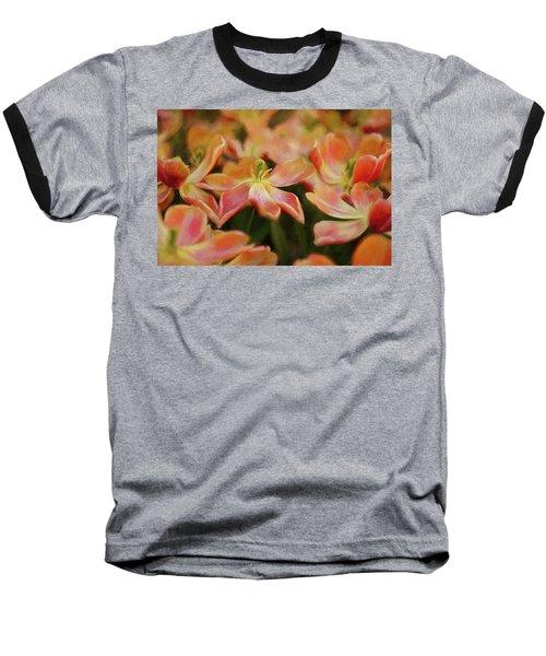 Dancing Flowers Baseball T-Shirt