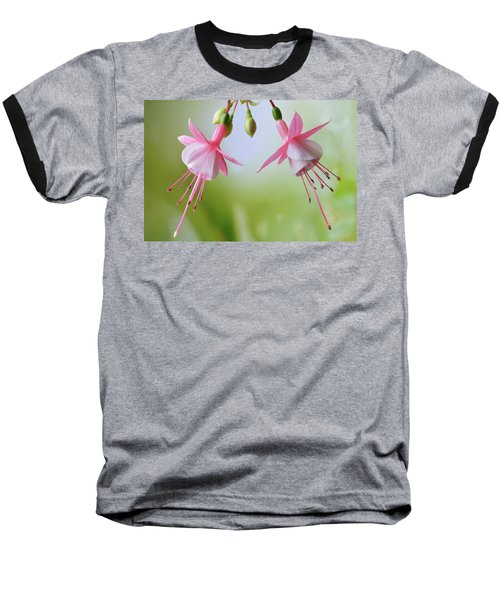 Dancing Fuchsia Baseball T-Shirt