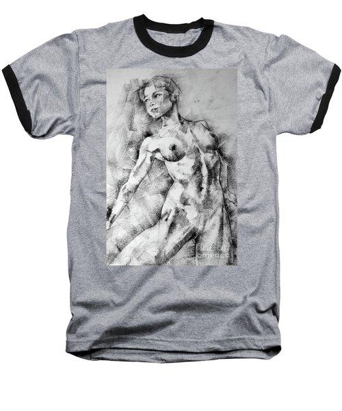Dancing Girl Drawing Baseball T-Shirt