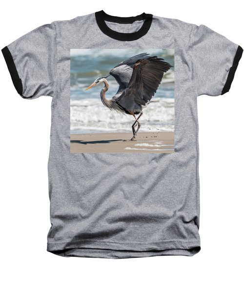 Dancing Heron #2/3 Baseball T-Shirt by Patti Deters