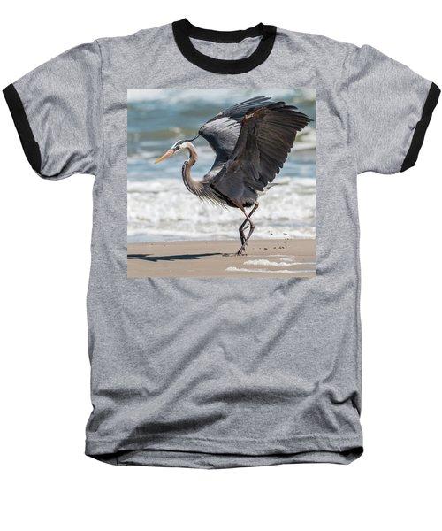 Dancing Heron #2/3 Baseball T-Shirt