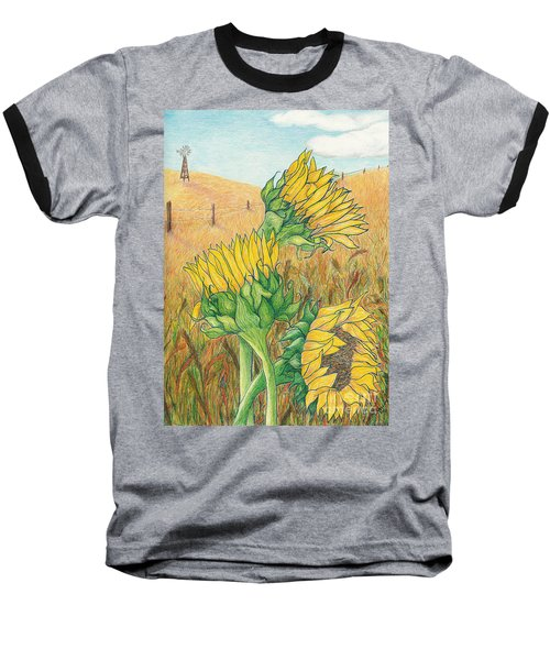 Dancing In The Breeze  Baseball T-Shirt by Vicki  Housel