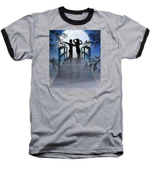 Dancing In The Moonlight Baseball T-Shirt by Nina Bradica