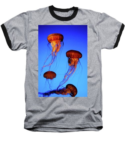 Baseball T-Shirt featuring the photograph Dancing Jellyfish by Anthony Jones