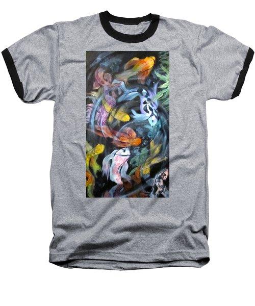 Dancing Koi Baseball T-Shirt