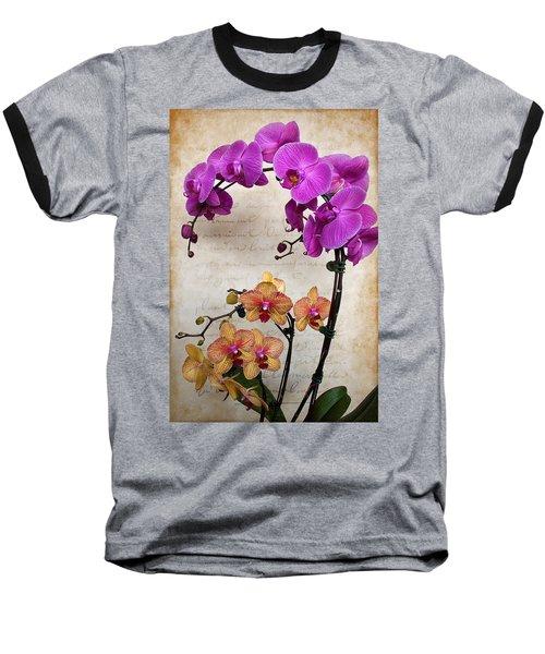 Dancing Orchids Baseball T-Shirt