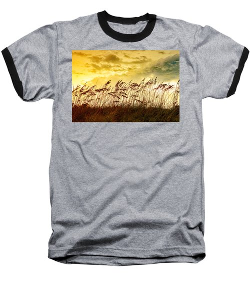 Dancing Sea Oats Baseball T-Shirt