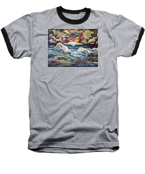 Dancing Skies 3 Baseball T-Shirt by Cheryl Pettigrew