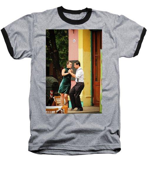 Dancing Tango Baseball T-Shirt by Silvia Bruno