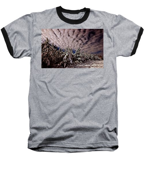 Dancing Trees  Baseball T-Shirt by John Harding