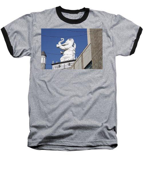 Dancing White Elephant Baseball T-Shirt
