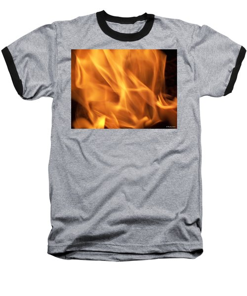 Baseball T-Shirt featuring the photograph Dancing With Fire by Betty Northcutt